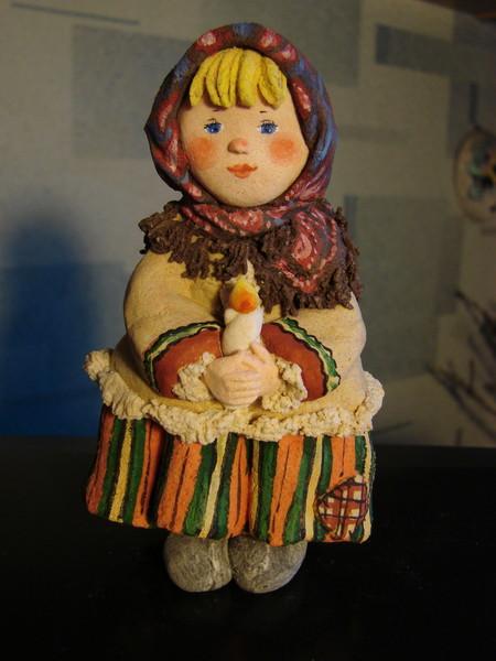 Куклы из теста соленого своими руками