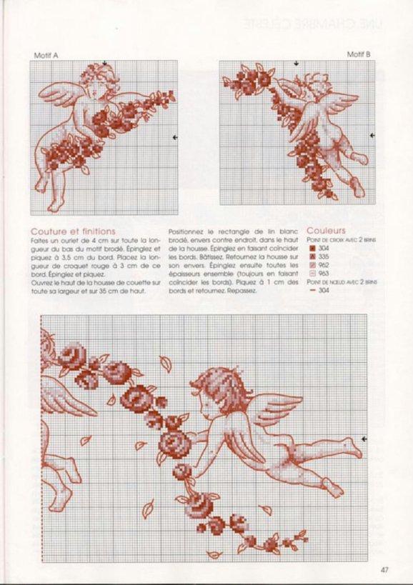 Схема вышивки крестом: для