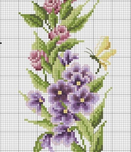 Схемы Вышивки Цветов Крестом