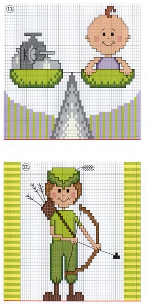 Обозначения символов для вышивки крестом 79