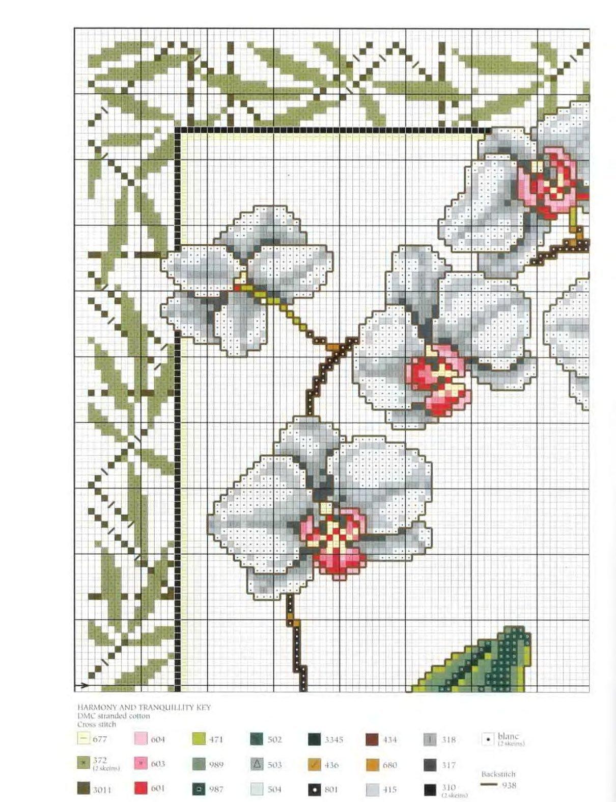орхидея схема для вышивки