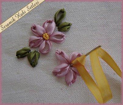 Уроки вышивки цветов лентами с