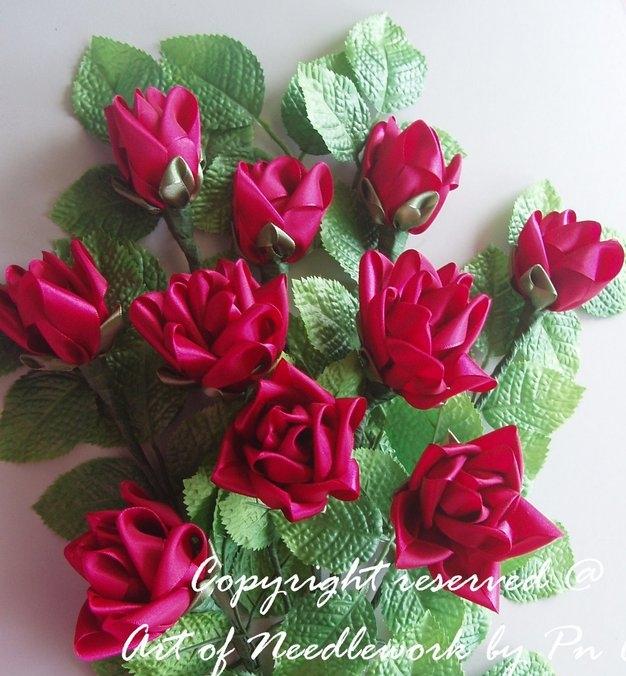 Вышивка Лентами Розы Мастер