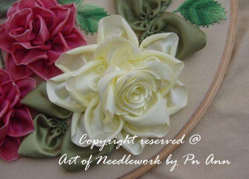 Розы вышивка лентами мастер класс