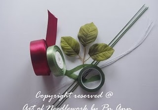 Вышивка Лентами Розы Мастер Класс