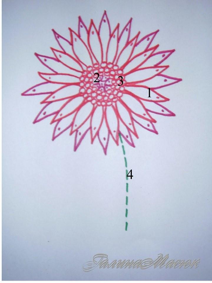 Вышивка Цветов Лентами