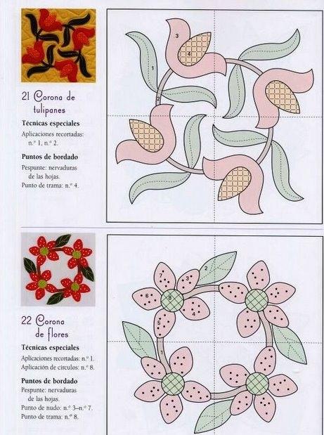 Схемы узоров к лоскутному шитью