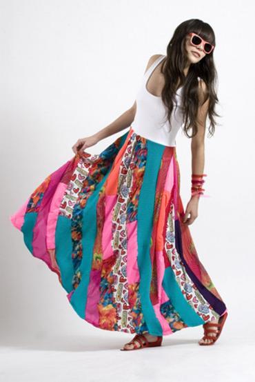 Лоскутное шитье в юбках