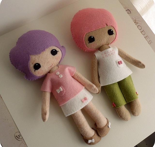 Выкройка куклы своими руками из фетра фото