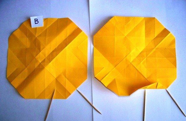 Оригами роза кавасаки из