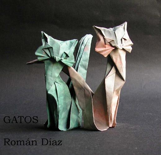 Оригами кошка из бумаги: схема