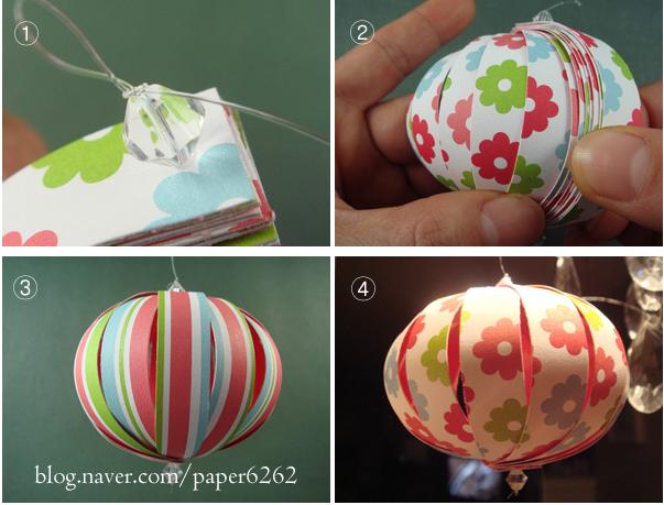 Оригами новогодний шар из