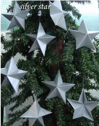 Звезда на елку из бумаги