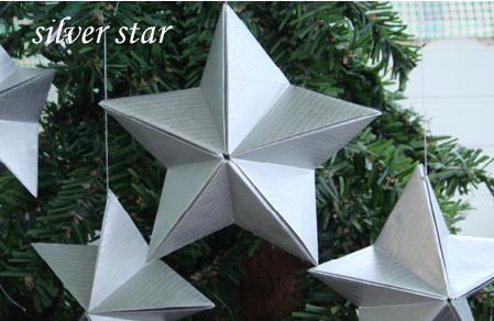 Оригами звезда на елку из