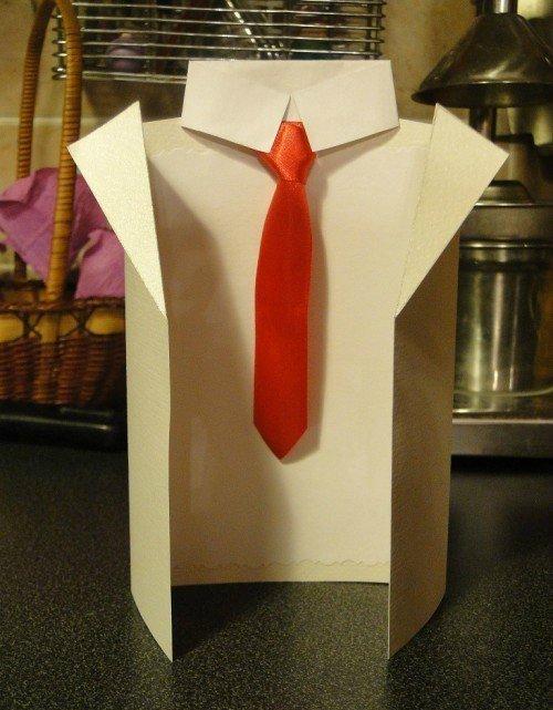 Оригами открытка для мужчин и