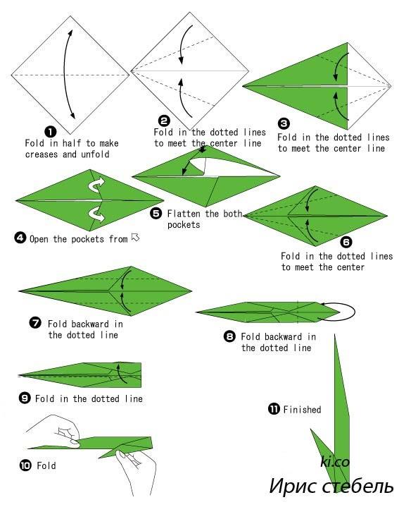 Как сделать ирисы из бумаги схемы