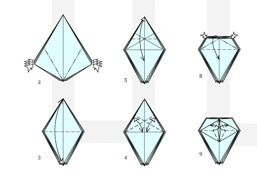 из бумаги: схема сборки от