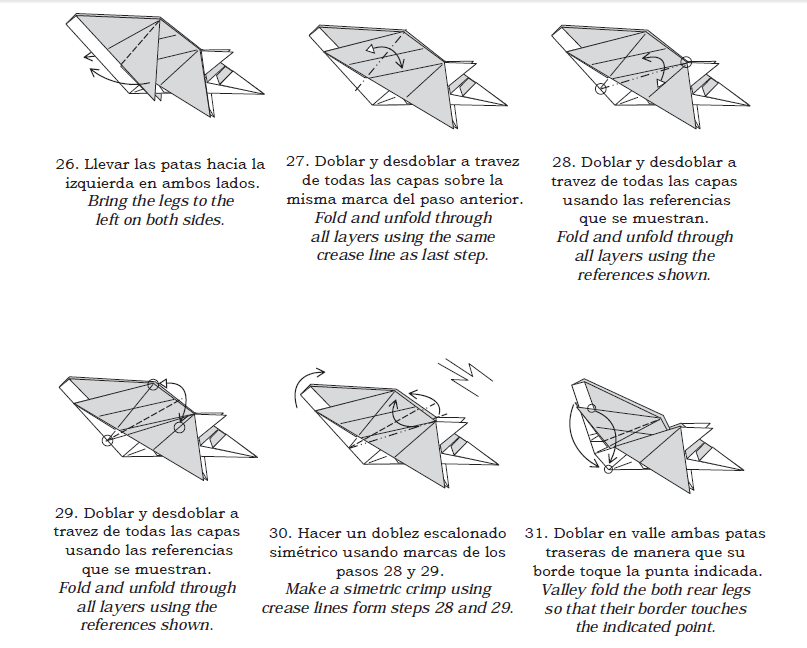Оригами Лиса от Roman Diaz.  Схема.