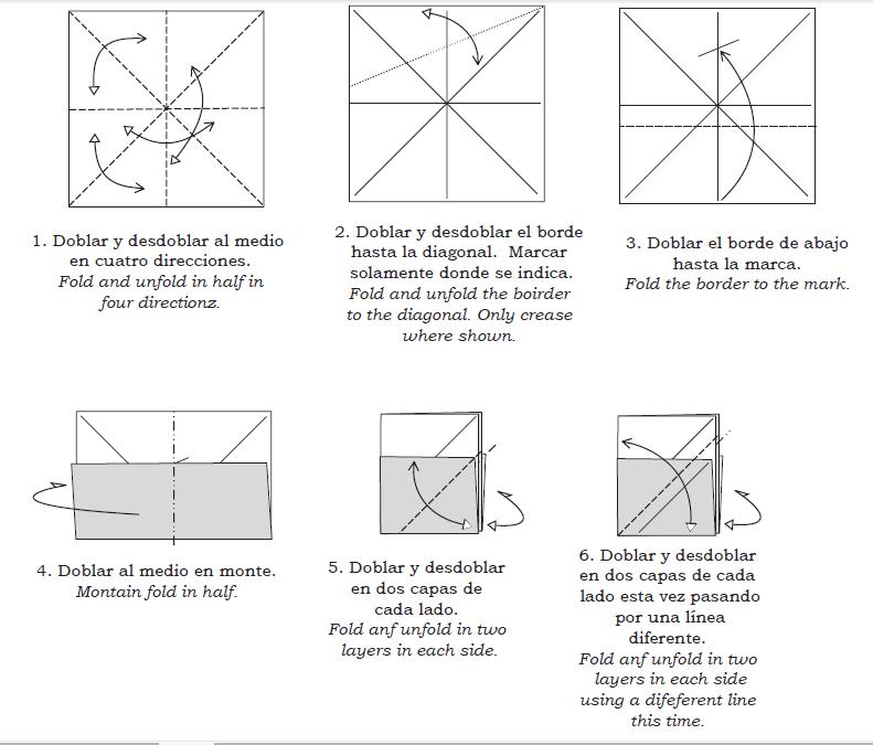 Оригами лиса из бумаги: схема