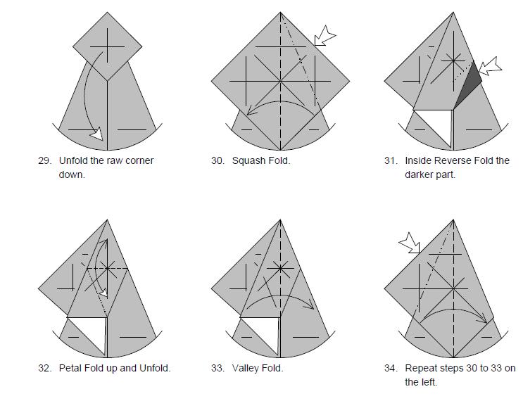 Оригами из бумаги лиса схема фото 465