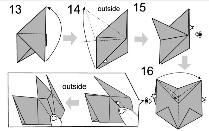 Оригами кролик из бумаги: