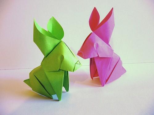 Схема сборки Оригами Кролика