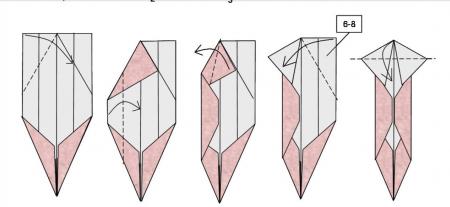 Оригами из бумаги лиса схема фото 808
