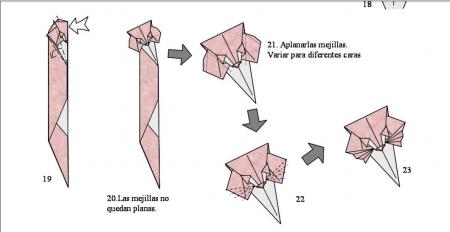 Оригами из бумаги лиса схема фото 464