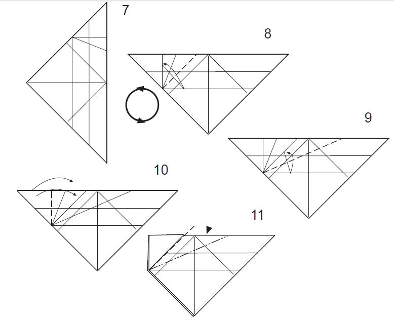 Оригами китайский дракон из