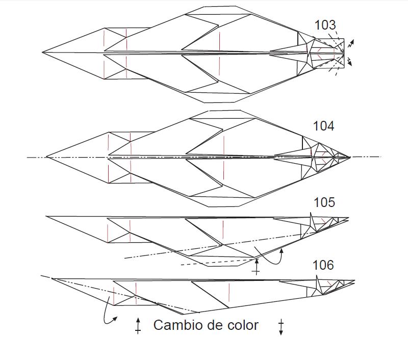 Оригами дракон схема
