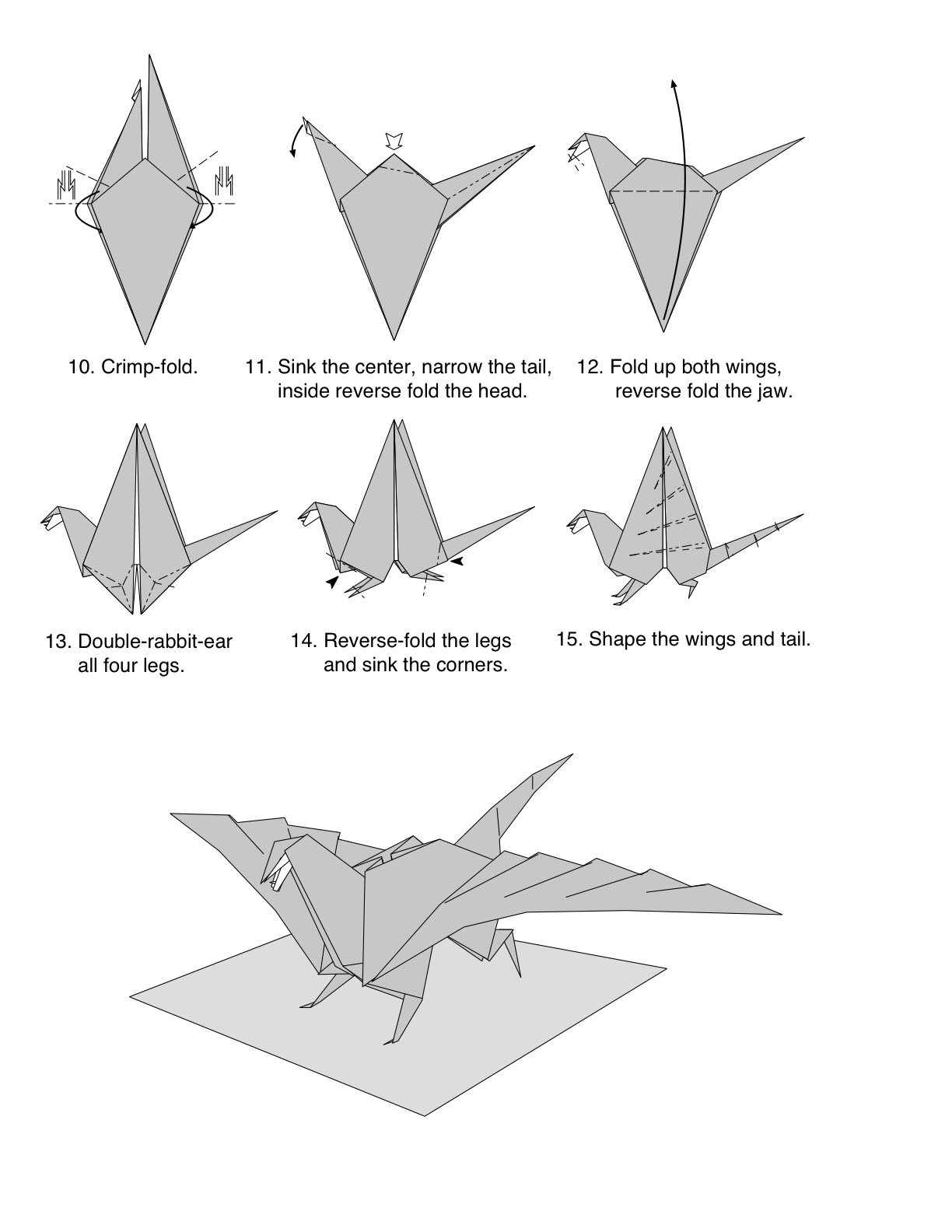 Оригами дракон сборка