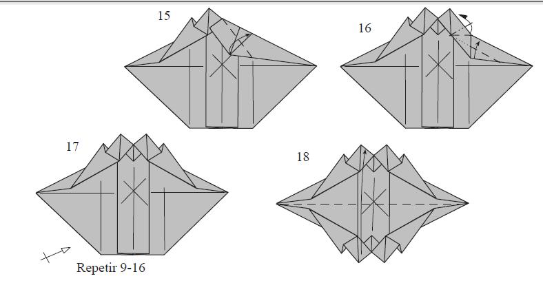 оригами танк видео схема