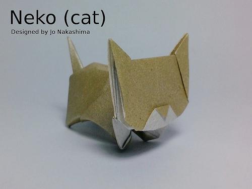 Оригами кот из бумаги: видео