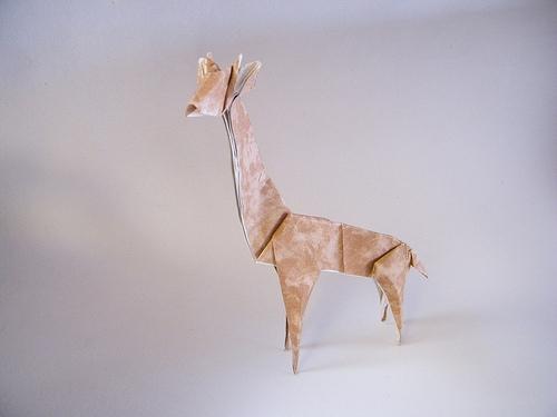 Оригами жираф из бумаги: видео