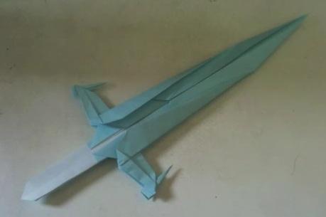 Мастер класс по сборке оригами меча