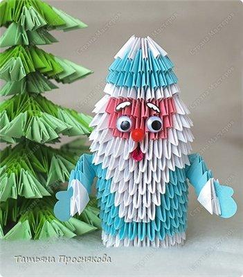 Дед мороз оригами своими руками из бумаги
