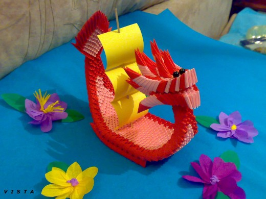 Змея модульное оригами схема фото 704