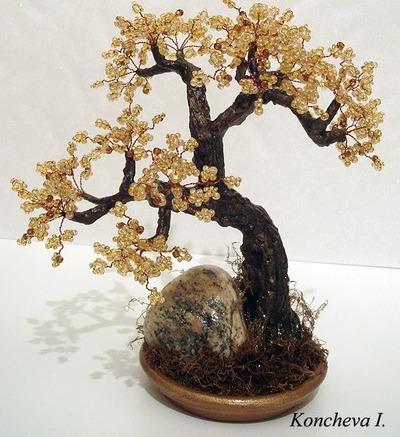 Мастер-класс по изготовлению красивого дерева из бисера