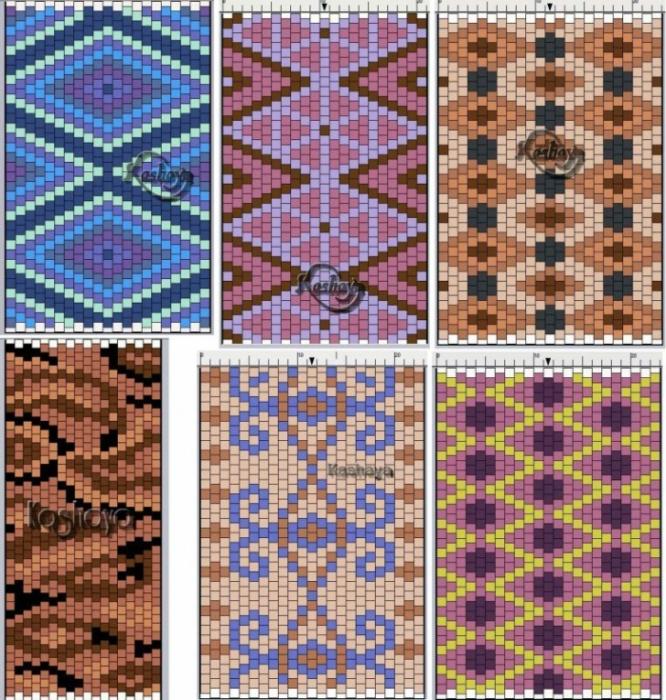 Основыне схемы по плетению из