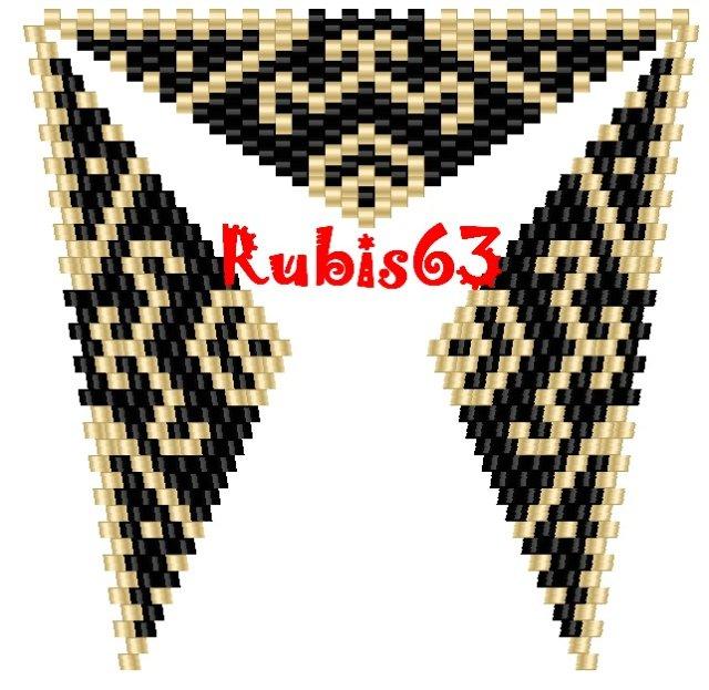 Треугольник из бисера: схемы