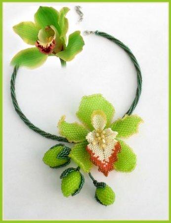 Орхидея Из Бисера. Схема