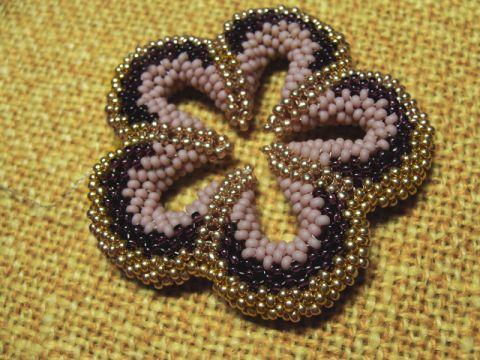 цветы из бисера мастер класс схемы