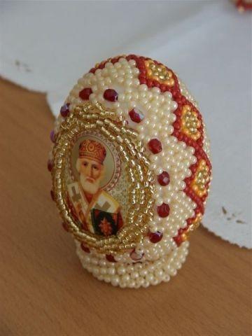 Пасхальное яйцо из бисера: