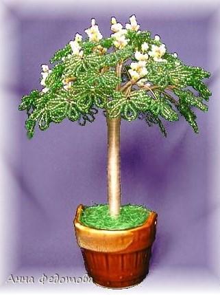 Плетение бисером деревьев: