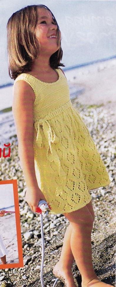 схема платья для девочек
