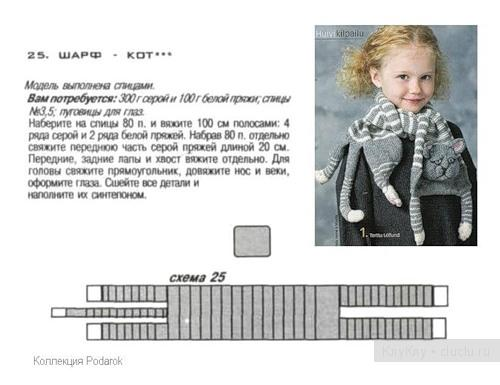 Вязание шарфов для детей:
