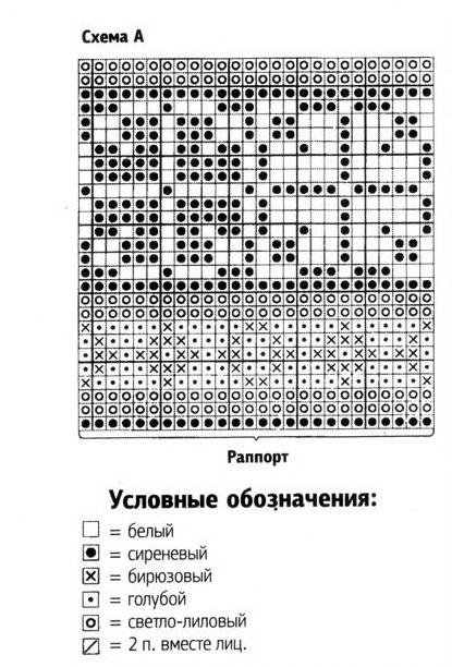 орнаментом Вязание спицами