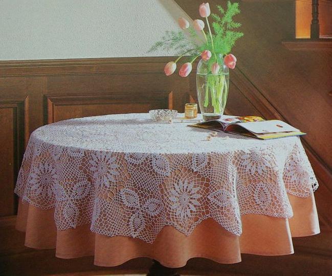 Схемы вязания скатерти крючком