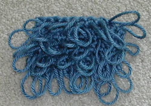 Вязание вытянутых петель