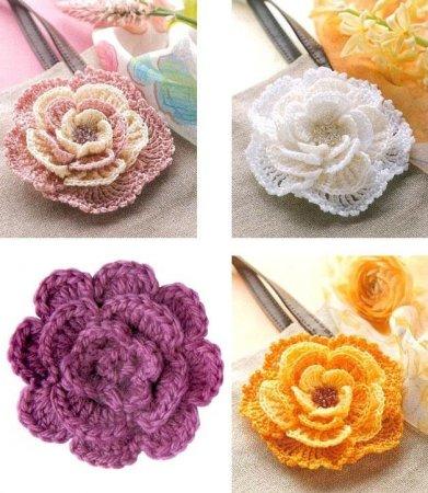 Вязание крючком цветы видео материал